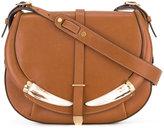 Roberto Cavalli flap shoulder bag - women - Cotton/Bos Taurus/Bone - One Size