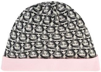 Salvatore Ferragamo Gancini knitted beanie