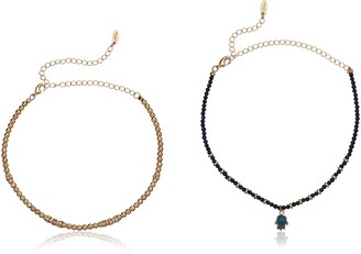 Ettika Make a Move Set in Lapis and Gold Choker Necklace