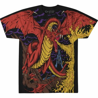 Liquid Blue Unisex-Adult's Dragon Vintage All Over Print Short Sleeve T-Shirt