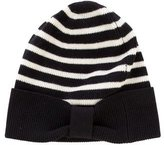 Kate Spade Rib Knit Striped Beanie