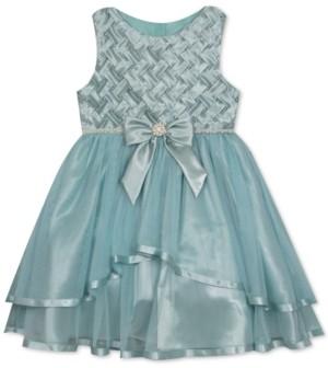 Rare Editions Little Girls Basket Weave Dress