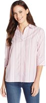 Chic Classic Collection Women's 3/4 Sleeve Woven Shirt