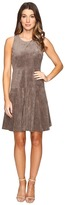 Ivanka Trump Fit and Flare Faux Suede Dress