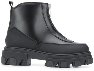 Ganni Polido zipper ankle boots