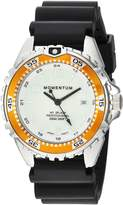 Momentum Women's Quartz Stainless Steel and Rubber Diving Watch, Color:Black (Model: 1M-DN11LO1B)
