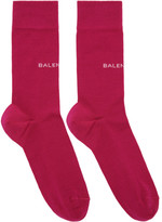 Balenciaga Pink Logo Socks