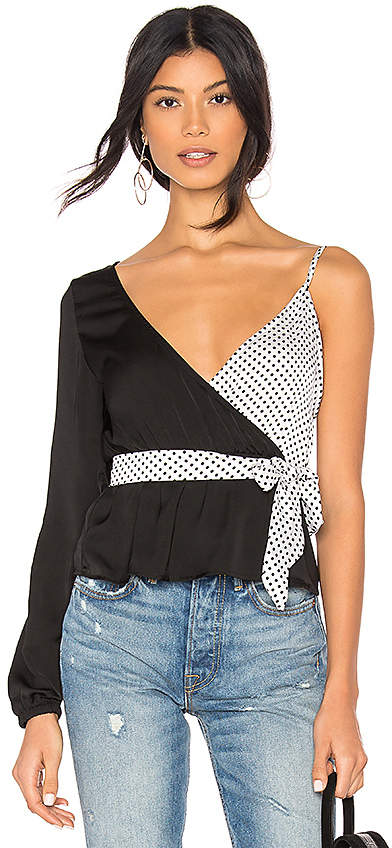 by the way. Hayley Two Tone Wrap Top