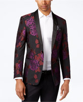 Tallia Men's Slim-Fit Black/Purple/Red Floral-Print Dinner Jacket