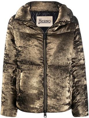 Herno Velvet Effect Padded Jacket