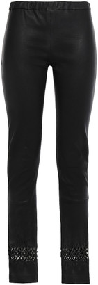 Haider Ackermann Laser-cut Stretch-leather Leggings