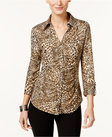 inc international concepts ruched animalprint blouse only at macys