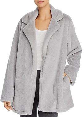 Splendid Faux Fur Lounge Wrap Jacket