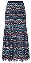 Saloni Diana C Chevron Lace Skirt