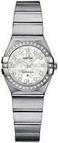 Omega Constellation ladies' diamond-set stainless steel bracelet watch