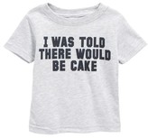 Kid Dangerous Infant Boy's I Was Told There Would Be Cake T-Shirt