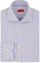 Isaia Men's Striped Cotton Poplin Dress Shirt