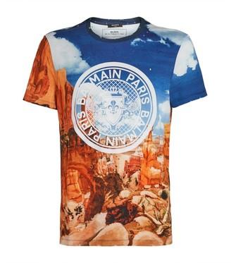 Balmain Cotton Logo Printed T-Shirt