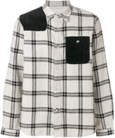 White Mountaineering checked colour-block shirt
