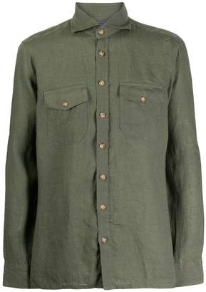 Barba chest pocket shirt