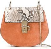 Chloé Tan Snake Drew Shoulder Bag - women - Calf Leather/Python Skin/Calf Suede - One Size