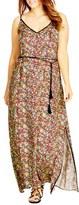 City Chic Plus Size Women's Contrast Trim Rainbow Print Maxi Dress