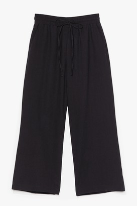 Nasty Gal Womens Time to Waist High-Waisted Cropped Trousers - Black - S