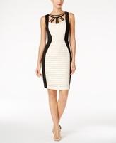 Sangria Petite Cutout Colorblocked Sheath Dress