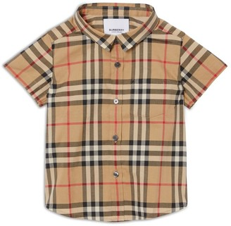 Burberry Kids Vintage Check Short-Sleeved Shirt