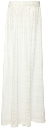 Missoni Viscose Blend Knit Long Skirt