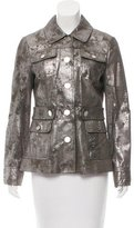 Tory Burch Metallic Leather Jacket