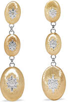 Buccellati Macri 18-karat Yellow And White Gold Diamond Earrings