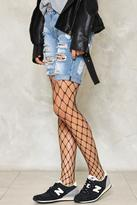 Nasty Gal Cast Your Net Wider Fishnet Tights