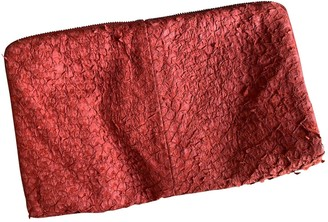Helmut Lang \N Red Leather Clutch bags