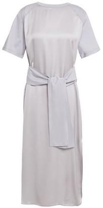 Nina Ricci Satin And Cotton-jersey Midi Dress