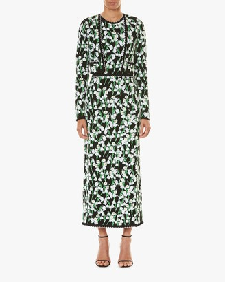 Carolina Herrera Straight Jacquard Skirt