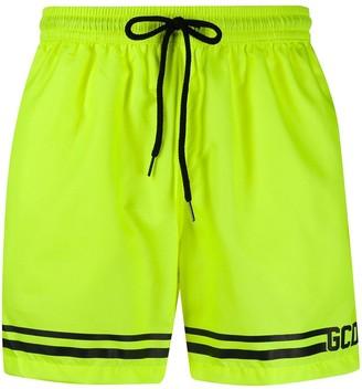 GCDS Stripe Detail Logo Swimming Shorts