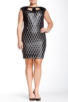 Jax 2PYR57Q Crisscross Trim Cutout Dress