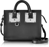 Sophie Hulme Black Saddle Leather Albion Box Tote Bag
