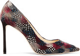 Jimmy Choo Romy feather-embellished suede pumps