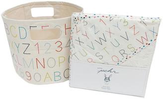BEIGE Alphabet Bath Cotton Baby Gift Set Pehr multi