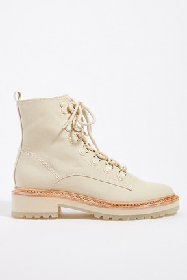 Dolce Vita Whitney Lace-Up Boots By in Beige Size 8