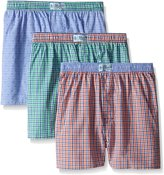 Original Penguin Men's 3-Pack Assorted Woven Boxer