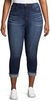 No Boundaries Juniors' Plus Size Roll Cuff Core High Rise Capri Jeans