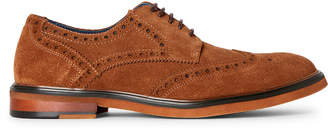 English Laundry Tan Jack Brogue Suede Derby Shoes