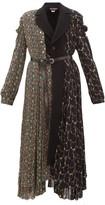 Junya Watanabe Floral-print Wool-blend And Crepe Coat - Womens - Black Multi