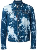 DSQUARED2 bleached splatter denim jacket - men - Cotton/Spandex/Elastane - 46