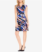 Vince Camuto Zebra-Print Wrap Dress