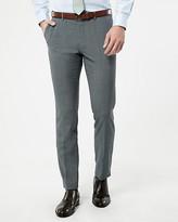Le Château Check Print Wool Blend Slim Leg Pant