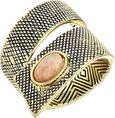 House Of Harlow Tanta Crosshatch Ring Ring